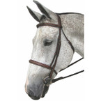 Henri de Rivel Pro Mono Crown Fancy Padded Bridle - Havana