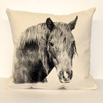 Eric & Christopher Medium Pillow - Horse #2