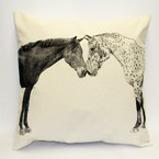 Eric & Christopher Large Pillow - Kissing Horses