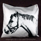 Eric & Christopher Large Pillow - Horse