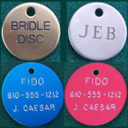Round Disc Bridle & Dog Hanging Tag