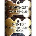 Bone Shaped Dog Hanging Tag - Brass