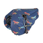 Shires Waterproof Saddle Cover - Horse Pattern