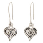 Michel McNabb Horseshoe Heart Earrings