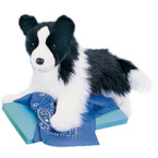 Douglas Chase Border Collie Stuffed Dog