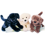 Douglas Chester Black Lab Stuffed Dog