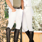 SALE! Horseware Torino Men's Self Seat Breeches - White