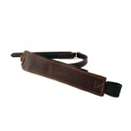 Free Jump Stirrup Leathers Single Strap Pro Grip - Brown