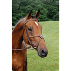 Arc de Triomphe Imperial Figure 8 Bridle with Fancy Rubber Reins - Brown