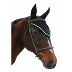Equine Couture Fly Bonnet with Silver Rope - Black