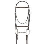 Camelot Gold Fancy Stitched Raised Bridle with Laced Reins