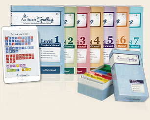 All About Spelling, levels 1, 2, 3, 4, 5, 6, and 7