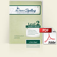 All About Spelling Teacher's Manual