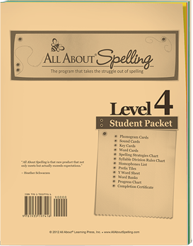 All About Spelling Level 4 Student Packet Cover