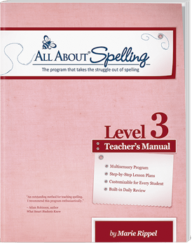 All About Spelling Level 3 Teacher's Manual Cover