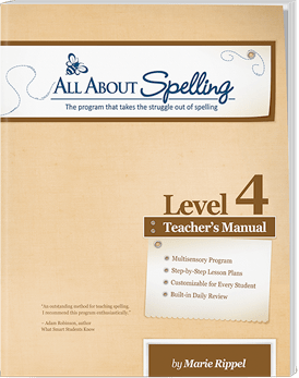 All About Spelling Level 4 Teacher's Manual Cover