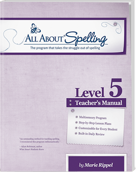 All About Spelling Level 5 Teacher's Manual Cover