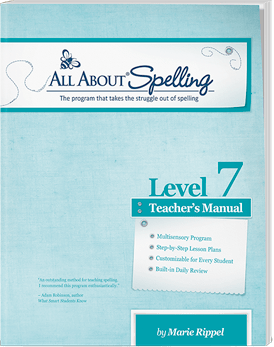 All About Spelling Level 7 Teacher's Manual Cover