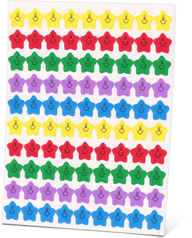 All About Reading Colorful Star Stickers
