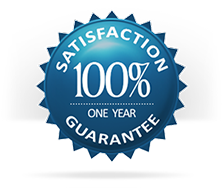 Our 1 year, 100% satisfaction guarantee