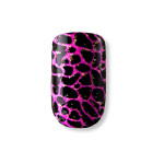 DASHING DIVA Metallic Crackle Nails Purrfectly Pink