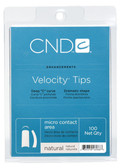 CND - Velocity Natural Tips 100/Pack