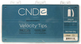 CND - Clear (Frost) Velocity Tips 360/Pack