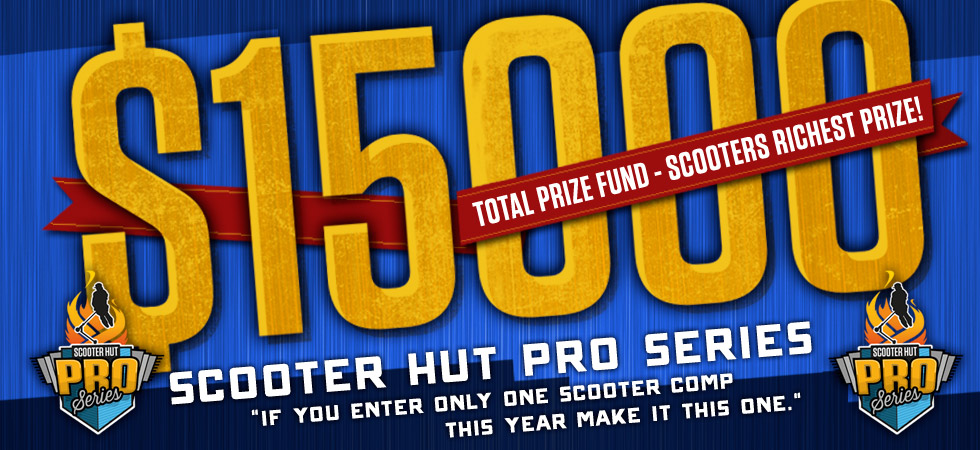 $15000 Total Prize Fund - Scooters Richest Prize