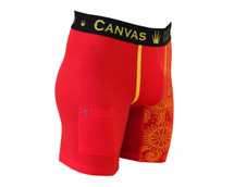 Canvas Exclusive Underwear | Red / Gold Paisley