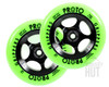 Proto Day-Glo Gripper 110mm Wheels | Green on Black
