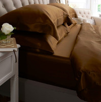 Silk Bedding Mocha - Jasmine Silk