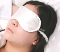 Silk Eye Mask - Jasmine Silk (Ivory)