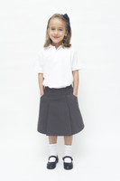 Organic School Uniform - Grey Drop Waist Pleated Skirt