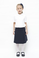 Organic School Uniform - Navy Drop Waist Pleated Skirt