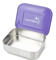 LunchBots Uno Stainless Lunch  Container - Purple