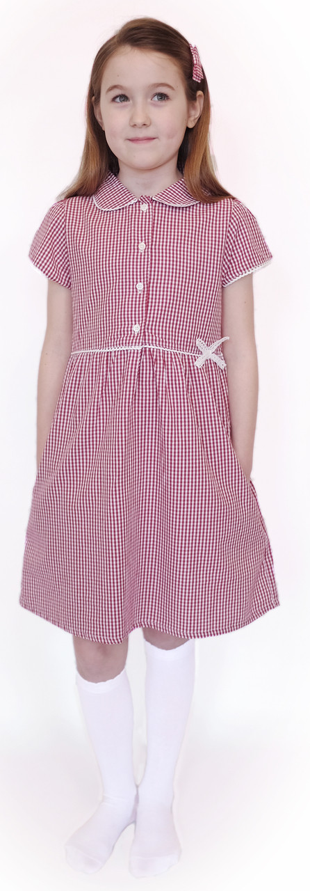 Red school summer dress