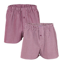 Mens Boxers Burgundy (Twin Pack) - Living Crafts