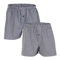 Mens Boxers Anthracite (Twin Pack) - Living Crafts