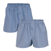 Mens Boxers Blue (Twin Pack) - Living Crafts
