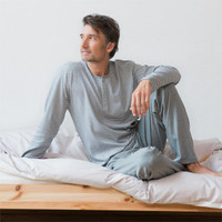 Organic Cotton Pyjamas Anthracite - Living Crafts