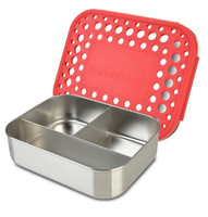 LunchBots Trio Dots Stainless Lunch Container - Red