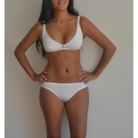 Lisa Non Wire Bra in White - Peau Ethique