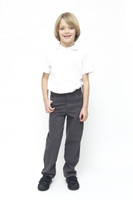 Organic School Uniform - Grey Boys Slim Fit Trousers