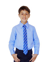 Organic School Uniform - Blue Long Sleeve Shirt