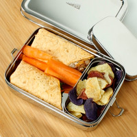 Large  Rectangle Lunch Box with Mini Container - A Slice of Green