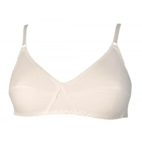 Eternelle Non Wire Organic Bra  Off White - Peau Ethique