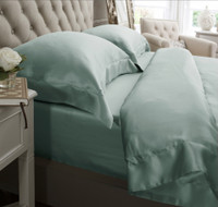 Silk Bed Linen Duck Egg - Jasmine Silk