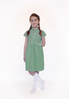 Organic School Uniform - Green Summer Gingham Checked Dress