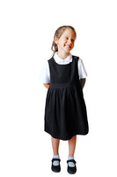 Organic School Uniform - Black Jersey Pinafore Dress