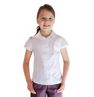 Organic School Uniform - Short Sleeve White Blouse